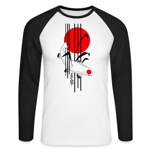 Bamboo Design - Nishikigoi - Koi Fish 5 - Männer Baseballshirt langarm