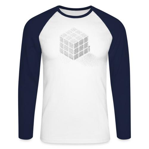 Rubik's Cube Stippling Dotted Cube - Men's Long Sleeve Baseball T-Shirt