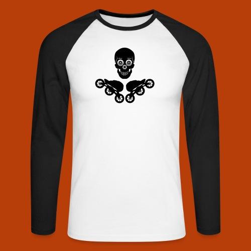 Skull + Skates 125mm - Männer Baseballshirt langarm
