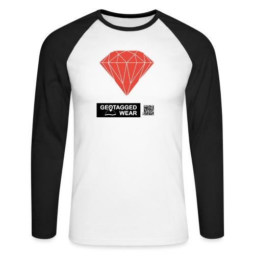 Unisex Diamond Pantone Cherry Tomato - Männer Baseballshirt langarm