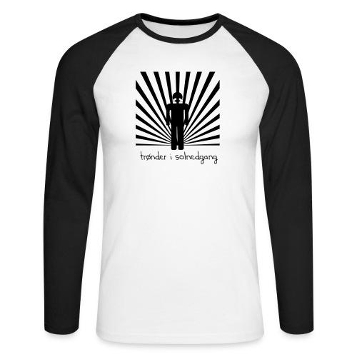 solnedgang trykk - Langermet baseball-skjorte for menn