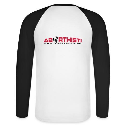 abarthlogored - Langermet baseball-skjorte for menn