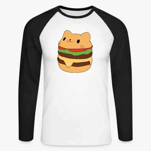cat burger - Men's Long Sleeve Baseball T-Shirt