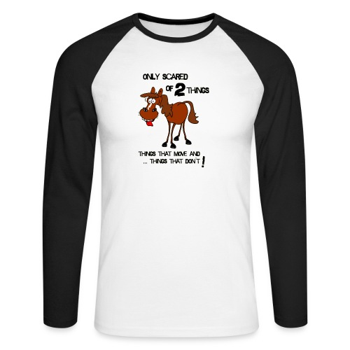 only scared of 2 things - Männer Baseballshirt langarm