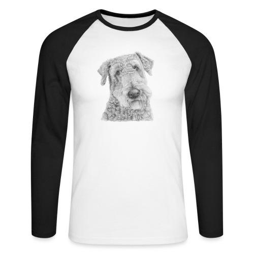 airedale terrier - Langærmet herre-baseballshirt