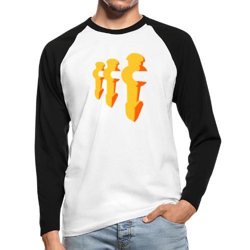 Kickerfiguren - Kickershirt - Männer Baseballshirt langarm