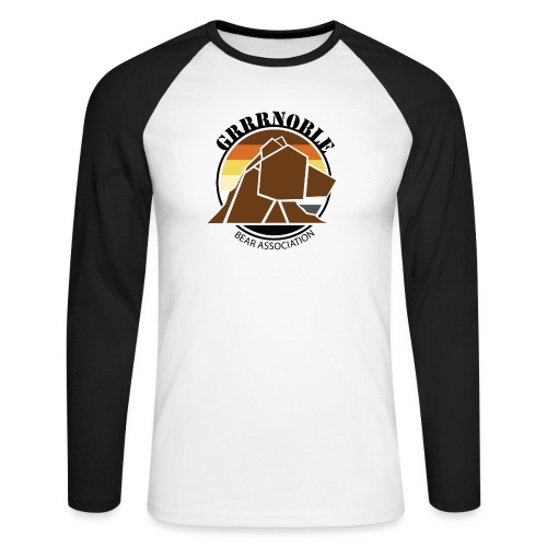 Logo 1 GRRRNOBLE BEAR ASSOCIATION - T-shirt baseball manches longues Homme