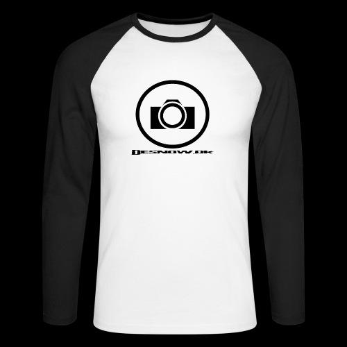 sort2 png - Langærmet herre-baseballshirt