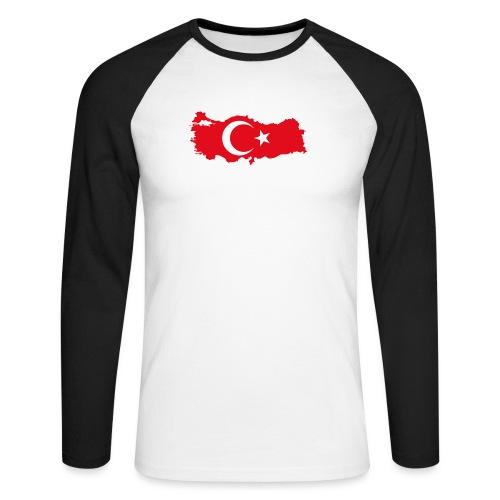 Tyrkern - Langærmet herre-baseballshirt