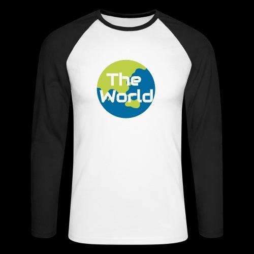 The World Earth - Langærmet herre-baseballshirt