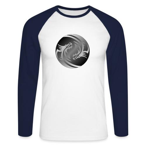 Yin Yang Dragon - Men's Long Sleeve Baseball T-Shirt