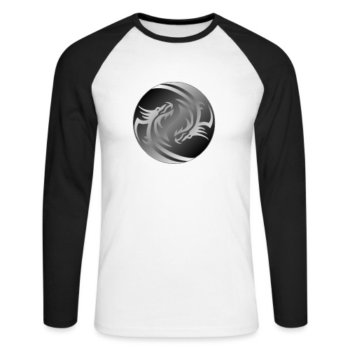 Yin Yang Dragon - Men's Long Sleeve Baseball T-Shirt