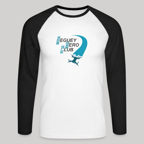 logo Le B.A.C. 2018 Racer bordure blanche - T-shirt baseball manches longues Homme