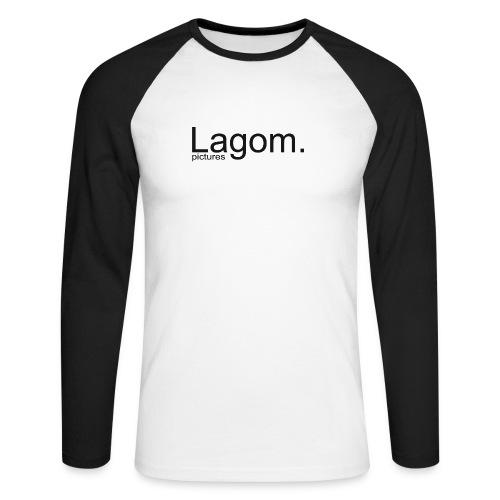 Lagom Pictures Logo Dark - Men's Long Sleeve Baseball T-Shirt