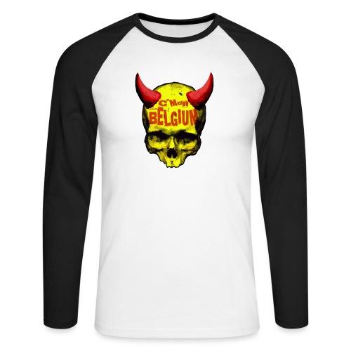 Belgium Devil 2 - Mannen baseballshirt lange mouw