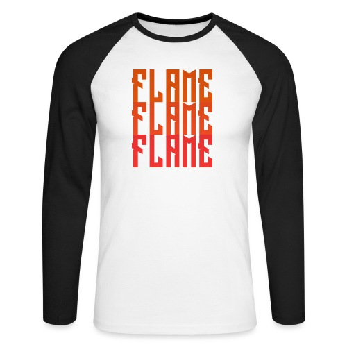 maglietta_flame_flame_flame - Maglia da baseball a manica lunga da uomo