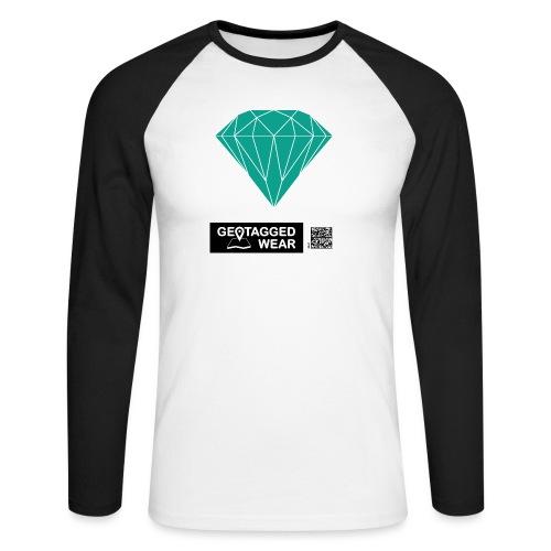 Unisex Diamond Pantone Arcadia - Männer Baseballshirt langarm