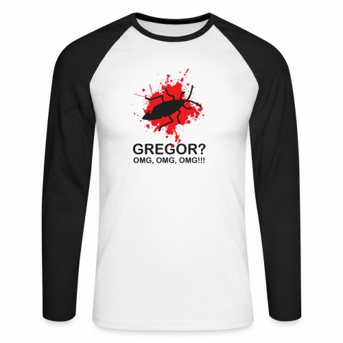 OMG, Gregor Samsa is dead! - Men's Long Sleeve Baseball T-Shirt