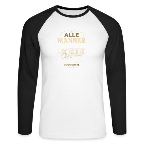 Mann Männer Legende Geburtstag Geschenk September - Männer Baseballshirt langarm