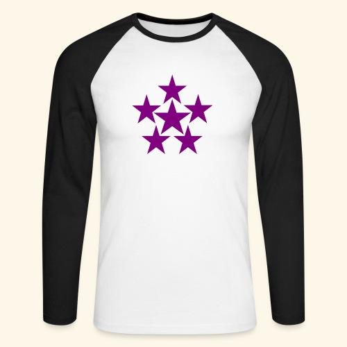 5 STAR lilla - Männer Baseballshirt langarm