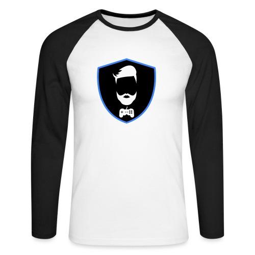 Kalzifertv-logo - Langærmet herre-baseballshirt