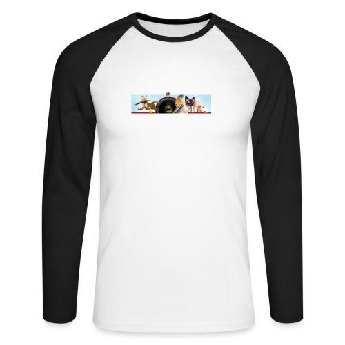 Animaux logo - Mannen baseballshirt lange mouw