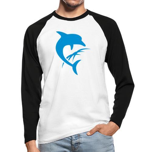 AquaSoft-Logo (Delfin) - Männer Baseballshirt langarm