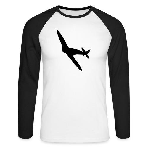 Spitfire Silhouette - Men's Long Sleeve Baseball T-Shirt