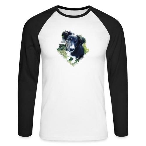 colliegermanshepherdpup - Men's Long Sleeve Baseball T-Shirt