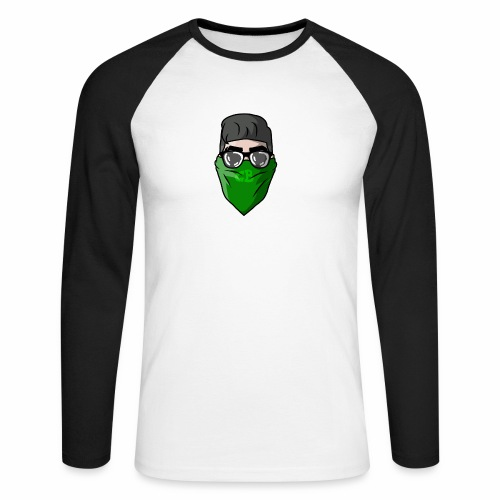 GBz bandana logo - Men's Long Sleeve Baseball T-Shirt
