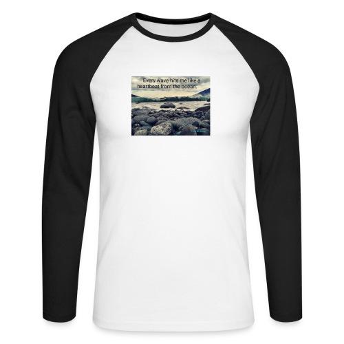 Oceanheart - Langermet baseball-skjorte for menn