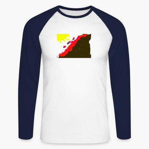 flowers - Langærmet herre-baseballshirt