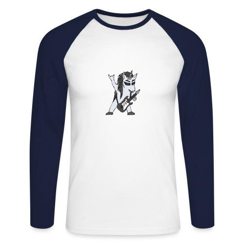 Licorne guitare metal N&B sans fond - T-shirt baseball manches longues Homme
