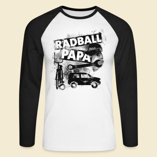 Radball | Papa - Männer Baseballshirt langarm