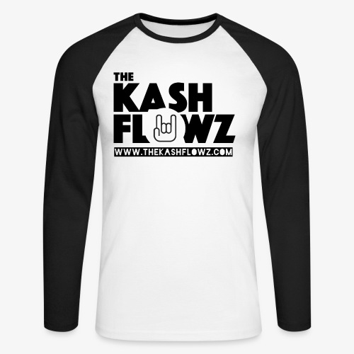 The Kash Flowz Official Web Site Black - T-shirt baseball manches longues Homme