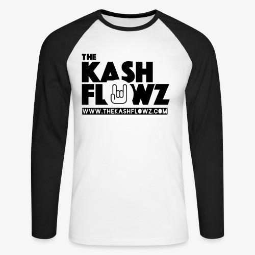 The Kash Flowz Official Web Site Black - T-shirt baseball manches longues Homme