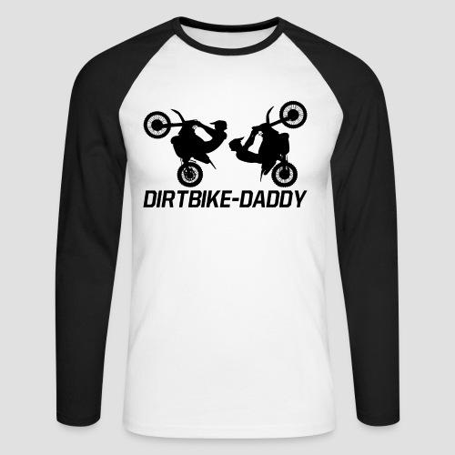 Dirtbike Daddy - Långärmad basebolltröja herr