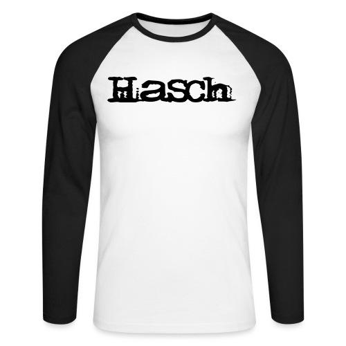 Hasch LOGO - Långärmad basebolltröja herr