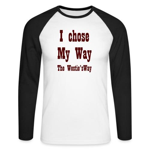 I chose My Way Brown - Koszulka męska bejsbolowa z długim rękawem