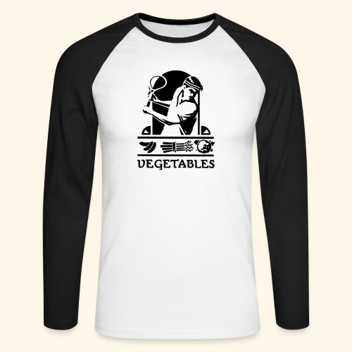tennis vegetable - T-shirt baseball manches longues Homme