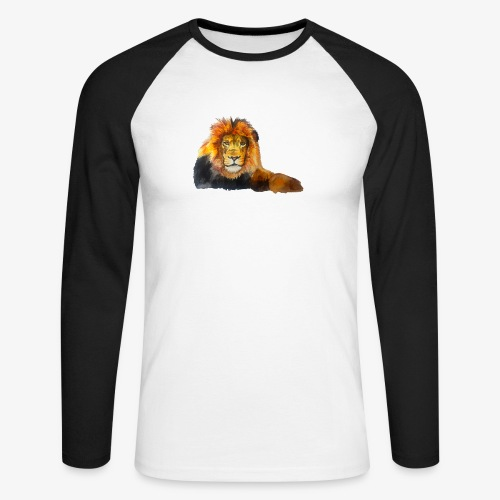 Lion - Men's Long Sleeve Baseball T-Shirt