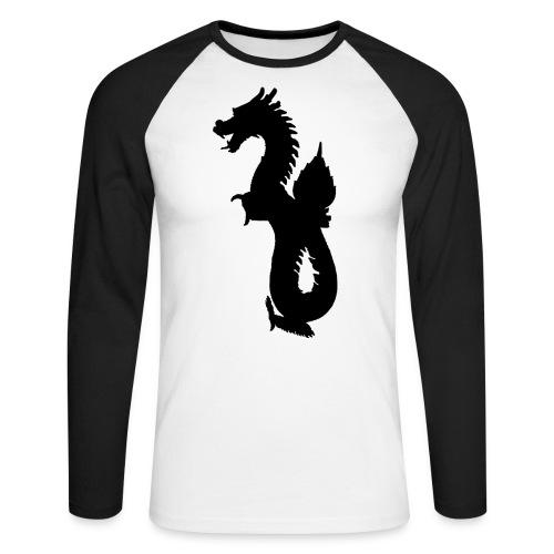 Dragon oriental - T-shirt baseball manches longues Homme