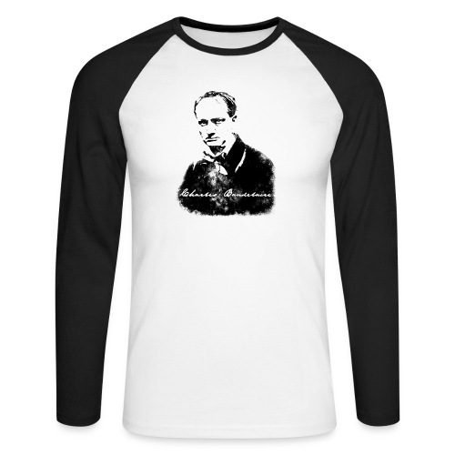 Charles Baudelaire - T-shirt baseball manches longues Homme