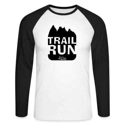 Trail Run - Männer Baseballshirt langarm