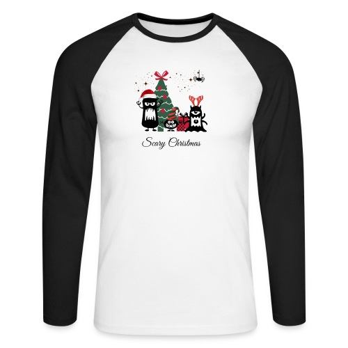 Noël effrayant - Scary Christmas - T-shirt baseball manches longues Homme