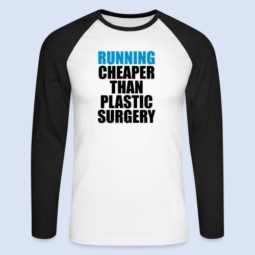 Running is cheaper than - Männer Baseballshirt langarm