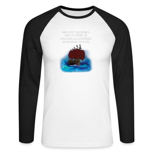 Rien-n'est-impossible tb - T-shirt baseball manches longues Homme