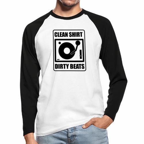 Clean Shirt Dirty Beats - Mannen baseballshirt lange mouw