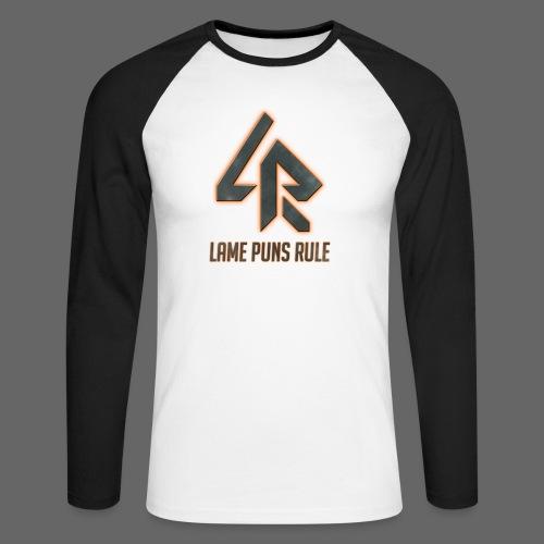 Lame Puns Rule: Logo - Men's Long Sleeve Baseball T-Shirt