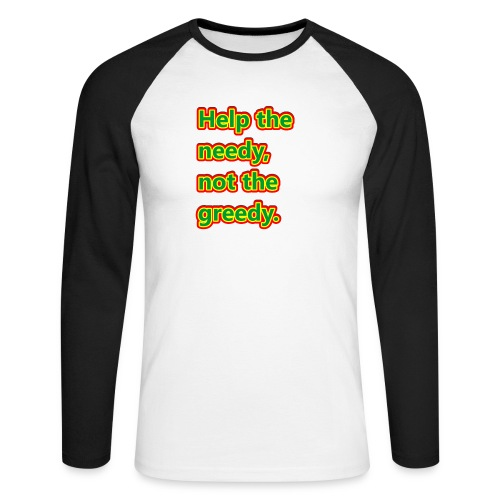 help - Men's Long Sleeve Baseball T-Shirt